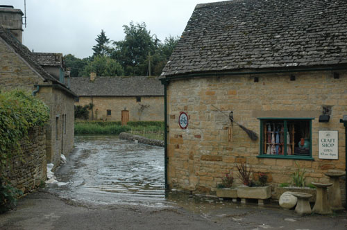 Flooding at the Lower Slaughter Mill