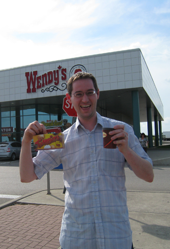 Tim Horton\'s outside of Wendy\'s in Canada