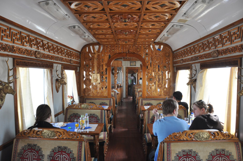 Mongolian Restaurant Car